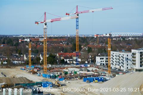 Neuer Bauabschnitt auf der Baustelle Alexisquartier und PANDIONVERDE in Neuperlach-München