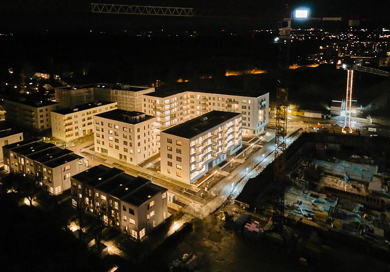 Alexisquartier im Dunkeln